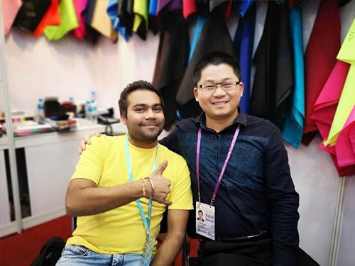 越南某客户鞋材牛津布案例